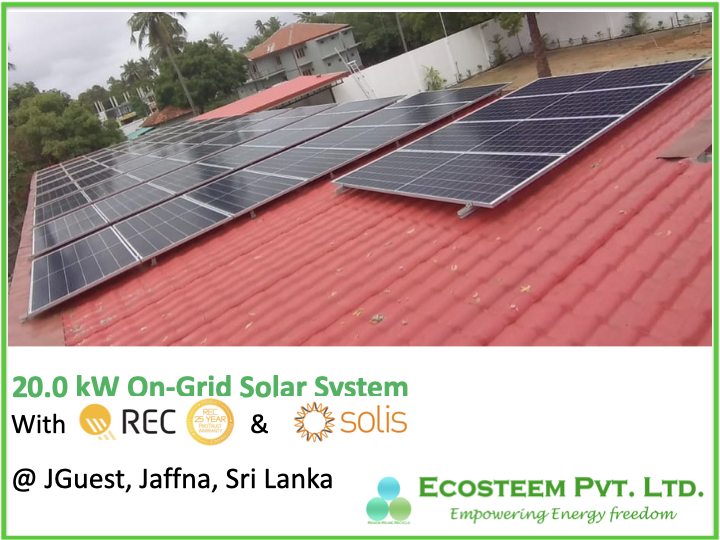 20kW Ecosteem Solar Solution powered @JGuest Jaffna